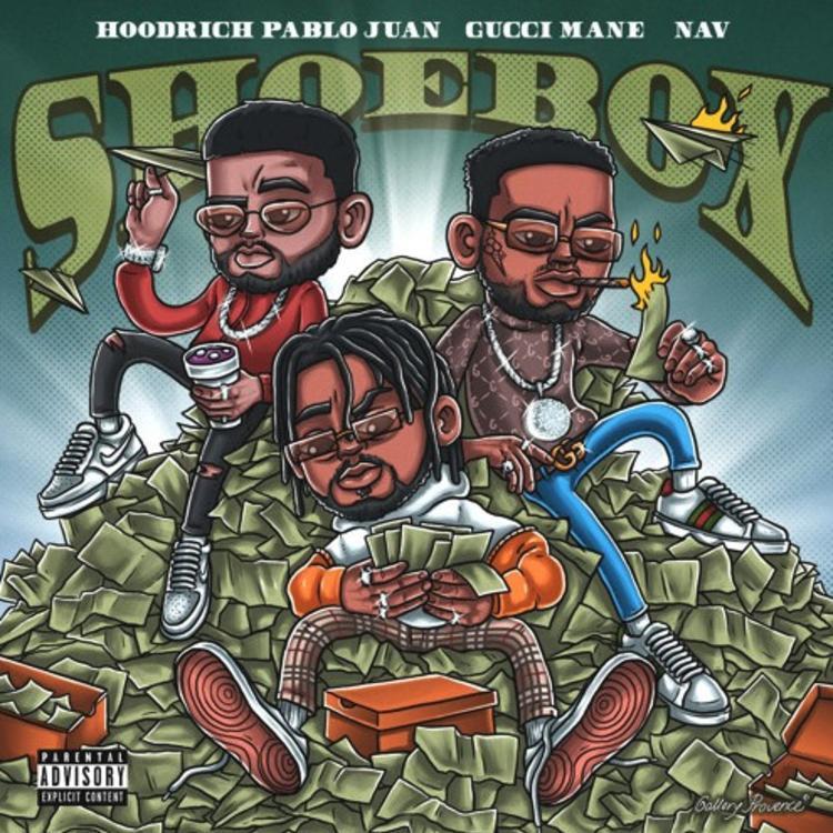 "Gucci Mane & Nav Assist Hoodrich Pablo Juan On ""Shoebox"""