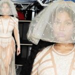"Nicki Minaj Wears Extravagant Bridal Outfit Inspired By A ""Victorian Hovercraft"""